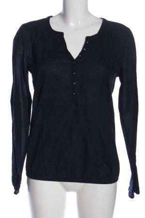 Comma Langarm-Bluse schwarz Casual-Look
