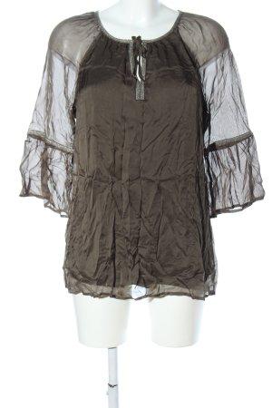 Comma Langarm-Bluse khaki klassischer Stil