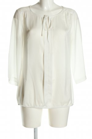 Comma Langarm-Bluse weiß Casual-Look