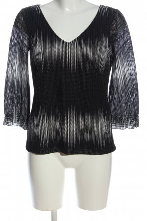 Comma Langarm-Bluse schwarz-weiß Streifenmuster Casual-Look