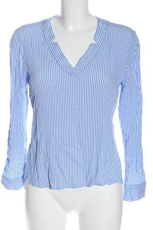 Comma Langarm-Bluse blau-weiß Streifenmuster Business-Look