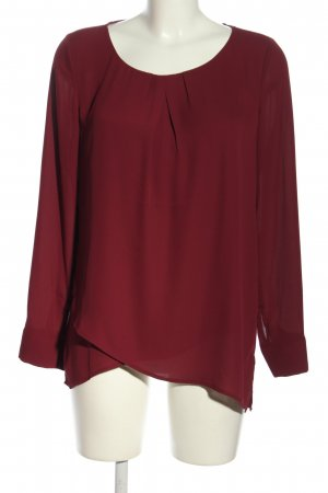 Comma Langarm-Bluse rot Business-Look