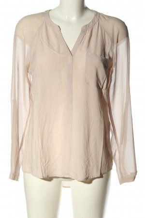 Comma Langarm-Bluse creme Casual-Look