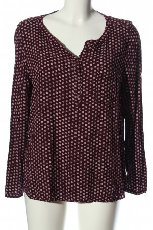 Comma Long Sleeve Blouse red-natural white allover print casual look