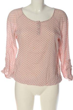 Comma Blusa de manga larga rosa-blanco look casual