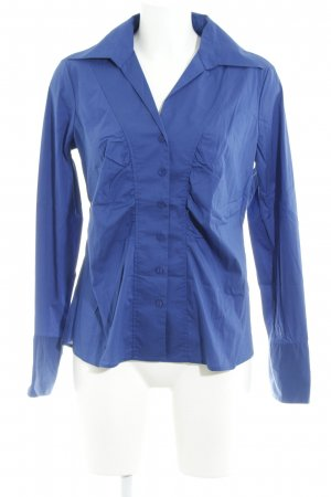 Comma Langarm-Bluse blau klassischer Stil