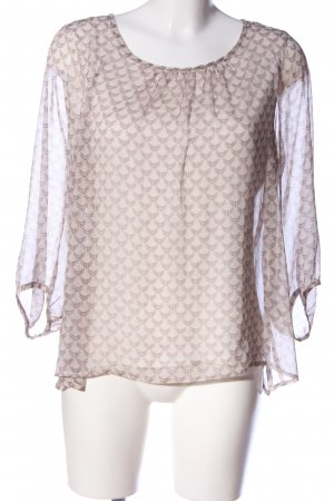 Comma Langarm-Bluse creme Allover-Druck Business-Look