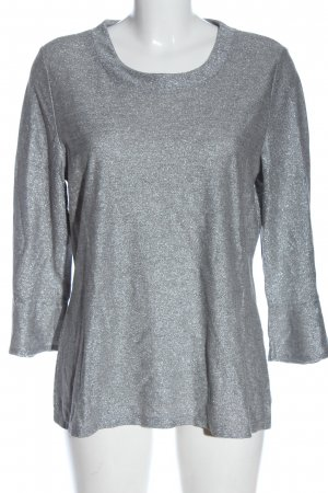 Comma Top à manches longues gris clair élégant