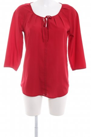 Comma Langarm-Bluse dunkelrot Casual-Look