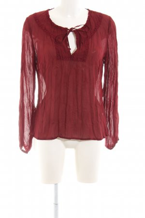 Comma Langarm-Bluse rot Casual-Look