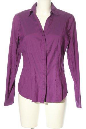 Comma Langarm-Bluse lila Business-Look