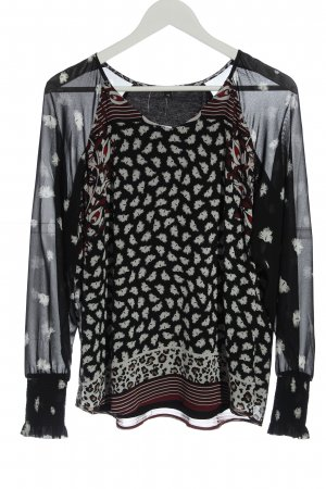 Comma Long Sleeve Blouse allover print casual look