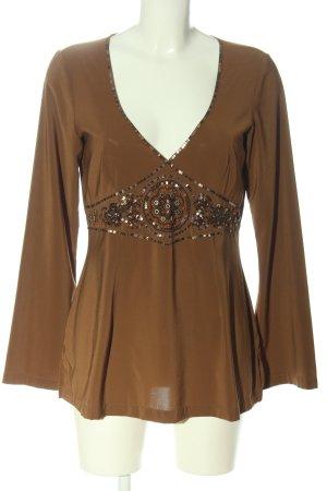 Comma Langarm-Bluse braun Elegant