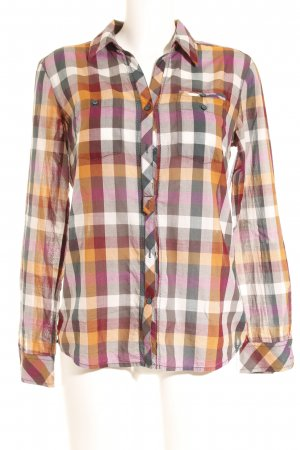 Comma Long Sleeve Blouse check pattern casual look