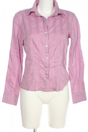 Comma Langarmhemd pink Streifenmuster Business-Look