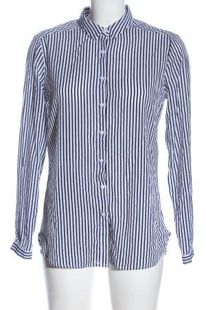 Comma Langarmhemd schwarz-weiß Streifenmuster Business-Look