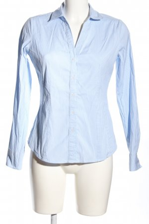 Comma Langarmhemd blau Streifenmuster Business-Look