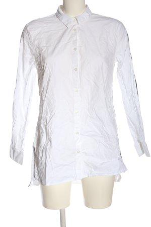 Comma Camisa de manga larga blanco-gris claro look casual