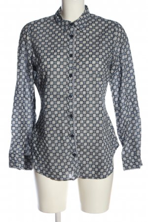 Comma Langarmhemd Allover-Druck Casual-Look