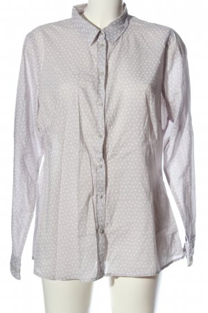 Comma Long Sleeve Shirt light grey-white spot pattern casual look