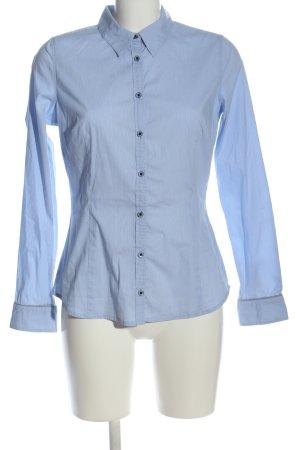 Comma Langarmhemd blau Business-Look