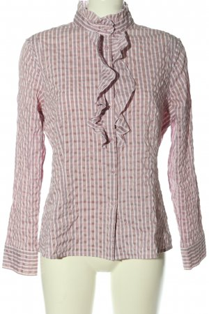 Comma Langarmhemd pink-weiß Allover-Druck Casual-Look