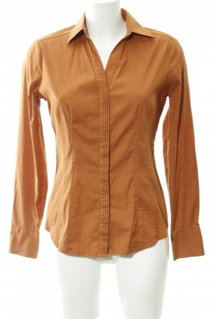 Comma Langarmhemd dunkelorange Casual-Look