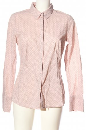 Comma Langarmhemd pink-wollweiß Allover-Druck Casual-Look