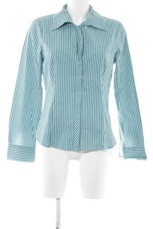 Comma Langarmhemd kadettblau-weiß Streifenmuster Elegant