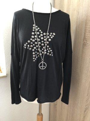 Comma Oversized shirt zwart