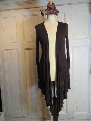 Comma Knitted Wrap Cardigan dark brown viscose