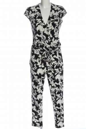 Comma Langer Jumpsuit black-white allover print casual look