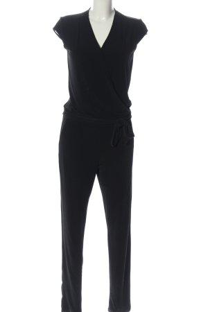 Comma Langer Jumpsuit schwarz Casual-Look