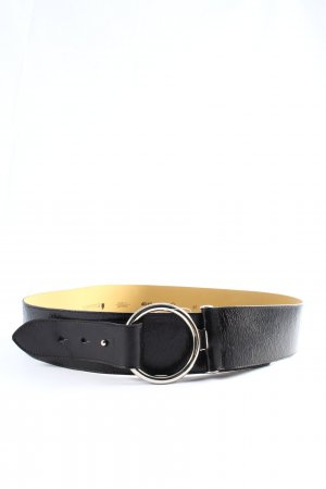 Comma Leather Belt black-silver-colored casual look