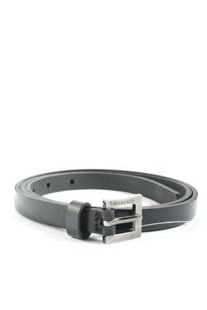 Comma Cinturón de cuero de imitación negro estilo «business»