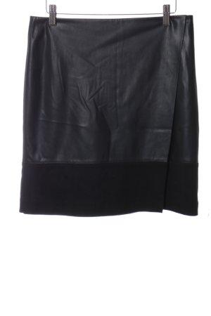 Comma Lederrock schwarz Elegant