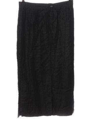Comma Falda de lino negro look casual
