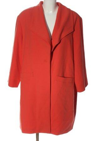 Comma Heavy Pea Coat red casual look