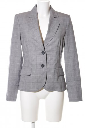 Comma Long-Blazer hellgrau-weiß Allover-Druck Business-Look