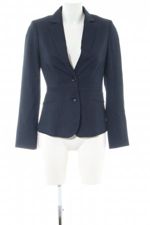 Comma Long-Blazer blau Business-Look