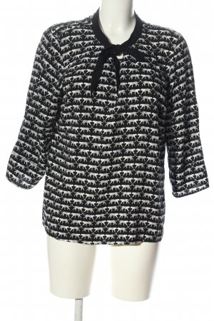 Comma Longsleeve black-white allover print casual look