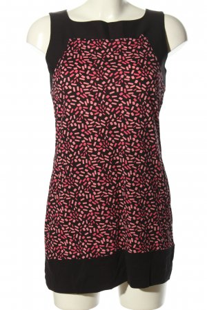 Comma Lange top zwart-roze volledige print casual uitstraling