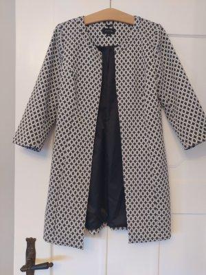 Comma Długa kurtka biały-ciemnoszary