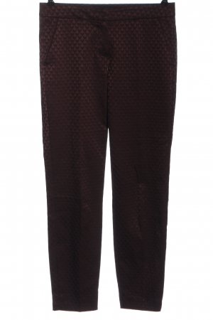 Comma Chinohose rot-schwarz abstraktes Muster Casual-Look