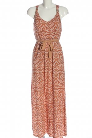 Comma Maxi Dress light orange-cream abstract pattern casual look