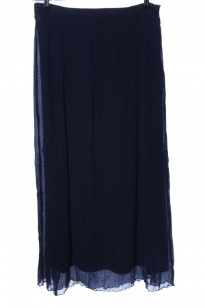 Comma Falda larga azul look casual