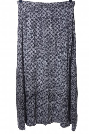 Comma Maxi Skirt light grey-black allover print casual look