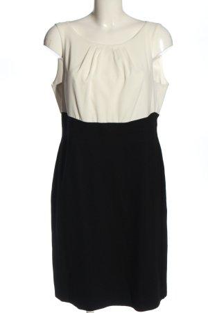 Comma Sukienka midi biały-czarny W stylu biznesowym