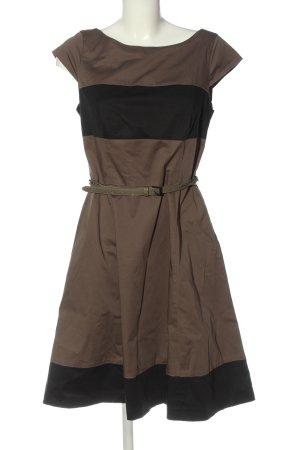 Comma Midikleid braun-schwarz klassischer Stil