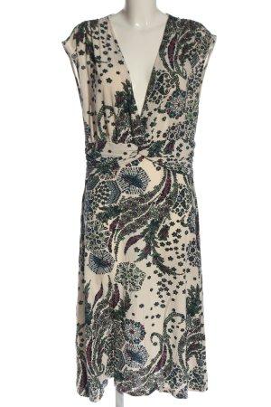 Comma Sukienka midi Abstrakcyjny wzór W stylu casual